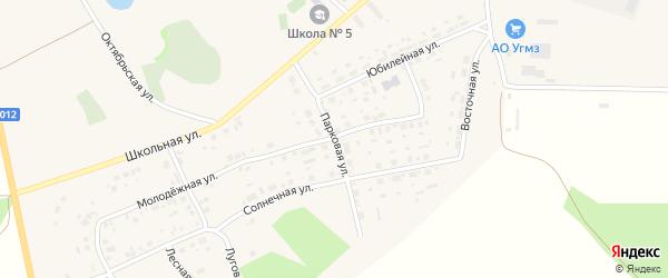 Парковая улица на карте села Калачево с номерами домов
