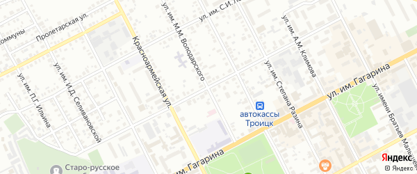 Улица им М.М.Володарского на карте Троицка с номерами домов