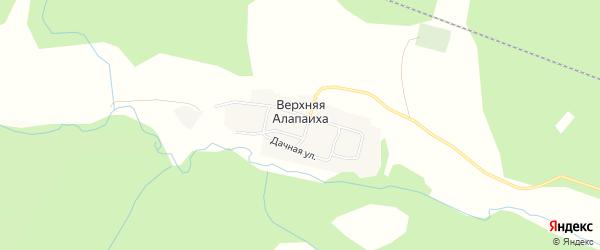 Карта деревни Верхней Алапаихи города Алапаевска в Свердловской области с улицами и номерами домов