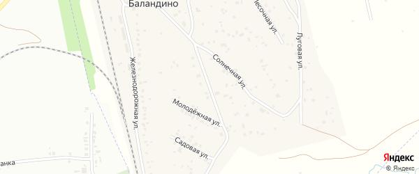 Солнечная улица на карте поселка Баландино с номерами домов