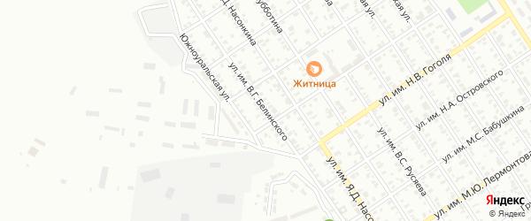 Улица им В.Г.Белинского на карте Троицка с номерами домов