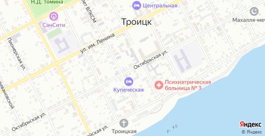 Октябрьская улица в Троицке с номерами домов на карте. Спутник и схема онлайн