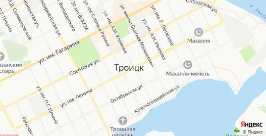 СТ Энергетик на карте Троицка с номерами домов
