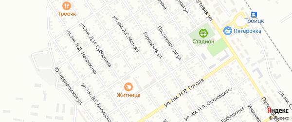 Улица им А.П.Чехова на карте Троицка с номерами домов