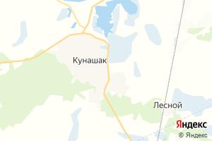 Карта с. Кунашак Челябинская область