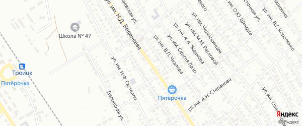 Улица им Н.Д.Веденеева на карте Троицка с номерами домов