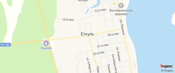 Карта села Еткуль в Челябинской области с улицами и номерами домов