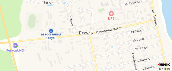 Полевая улица на карте села Еткуль с номерами домов