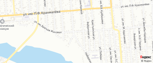 Улица им братьев Жуковых на карте Троицка с номерами домов