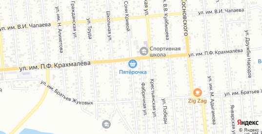 Улица им Сони Кривой в Троицке с номерами домов на карте. Спутник и схема онлайн