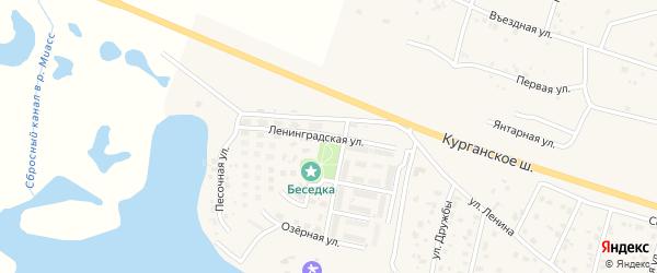 Ленинградская улица на карте Петровского поселка с номерами домов