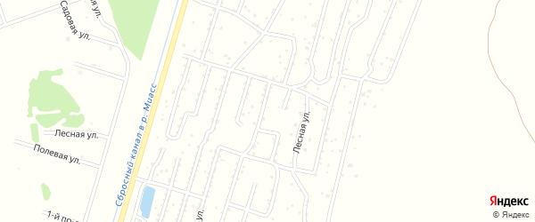 Клубничная улица на карте садового товарищества Лесная поляна с номерами домов