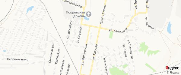 Территория СНТ Им Мичурина на карте Копейска с номерами домов