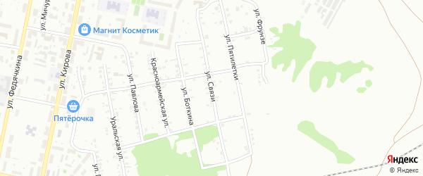 Улица Связи на карте Копейска с номерами домов
