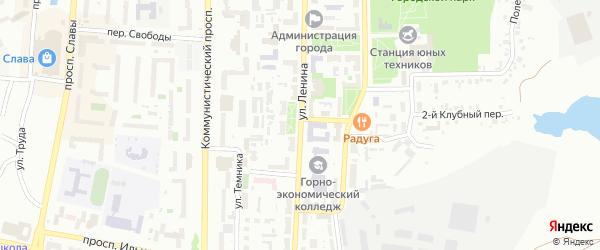 Улица Ленина (бывший РП Октябрьский) на карте Копейска с номерами домов