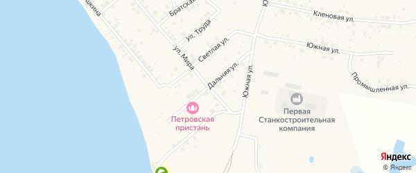 Дальняя улица на карте Петровского поселка Челябинской области с номерами домов