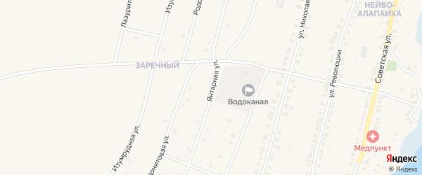 Янтарная улица на карте Алапаевска с номерами домов
