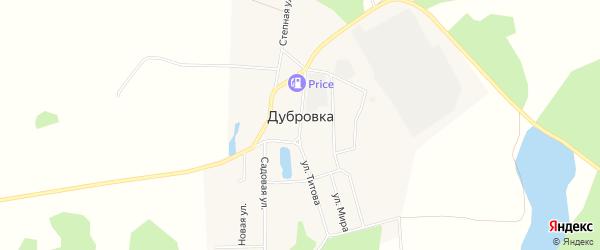 Карта поселка Дубровки в Челябинской области с улицами и номерами домов