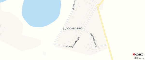 Школьная улица на карте села Дробышево с номерами домов
