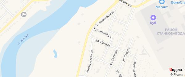 Зыряновская улица на карте Алапаевска с номерами домов