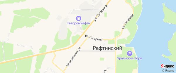 Карта Рефтинского поселка в Свердловской области с улицами и номерами домов
