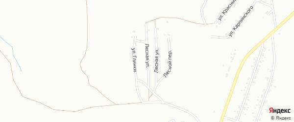 Улица Лесная (бывший РП Горняк) на карте Копейска с номерами домов
