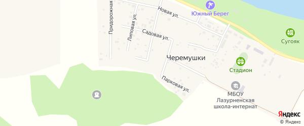 Парковая улица на карте поселка Черемушки с номерами домов