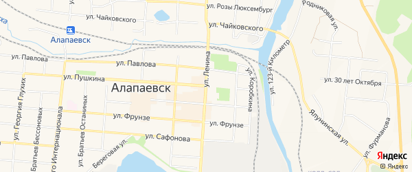 Территория Коллективный сад N4 АСЗ на карте Алапаевска с номерами домов
