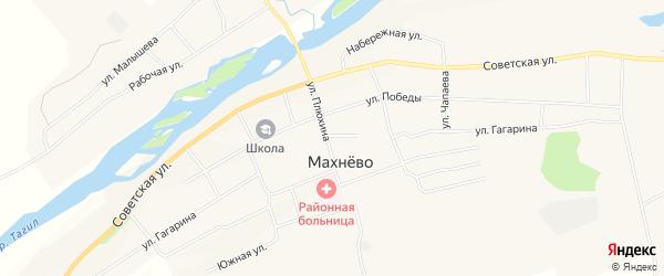 Карта поселка Махнево в Свердловской области с улицами и номерами домов