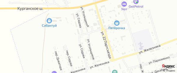 Улица Угольщиков на карте Копейска с номерами домов