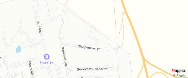 Шадринский переулок на карте Копейска с номерами домов