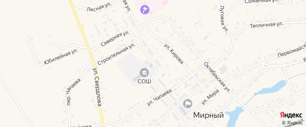 Пионерская улица на карте Мирного поселка с номерами домов
