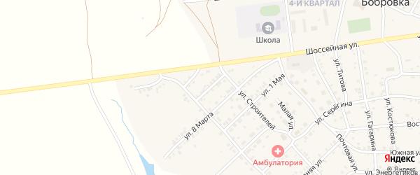 Западная улица на карте села Бобровки Челябинской области с номерами домов