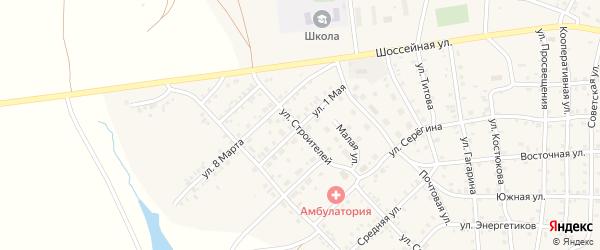1 Мая улица на карте села Бобровки Челябинской области с номерами домов