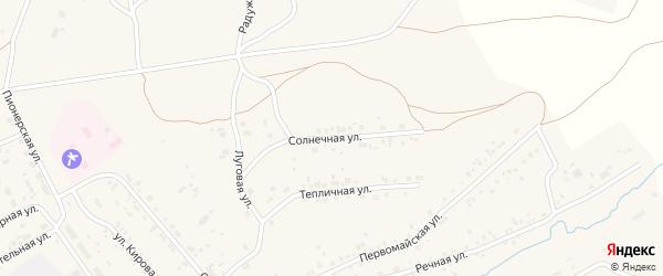 Солнечная улица на карте Мирного поселка Челябинской области с номерами домов