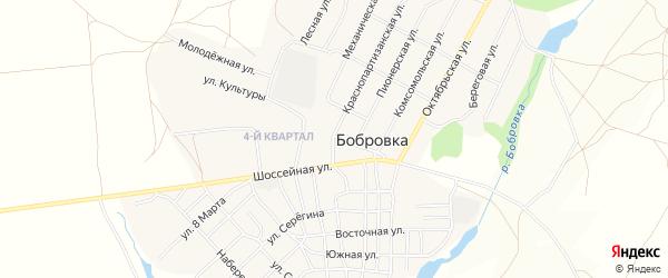 Карта села Бобровки в Челябинской области с улицами и номерами домов