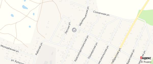Механическая улица на карте села Бобровки с номерами домов