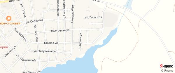 Озерная улица на карте села Бобровки Челябинской области с номерами домов