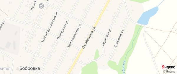 Октябрьская улица на карте села Бобровки с номерами домов
