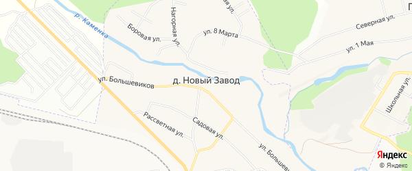 Карта деревни Нового Завода города Каменска-Уральского в Свердловской области с улицами и номерами домов