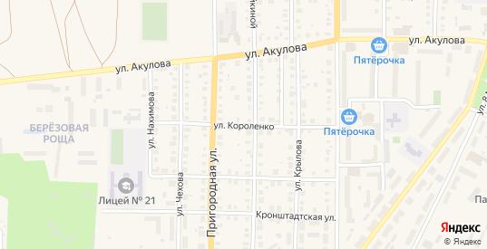 Улица Короленко в Артемовском с номерами домов на карте. Спутник и схема онлайн