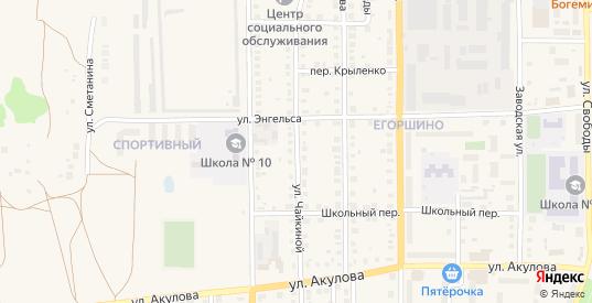 Улица Чайкиной в Артемовском с номерами домов на карте. Спутник и схема онлайн
