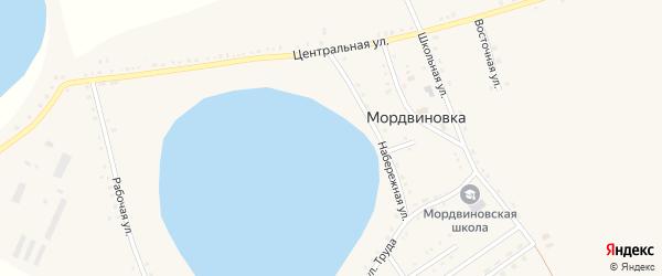 Рабочая улица на карте села Мордвиновки с номерами домов