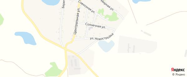 Улица Новостройка на карте деревни Фроловки с номерами домов