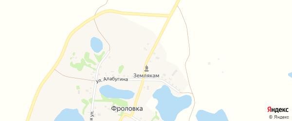 Школьная улица на карте деревни Фроловки с номерами домов