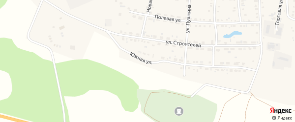 Южная улица на карте Миасского села с номерами домов