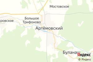 Карта г. Артёмовский Свердловская область