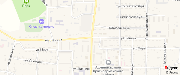 Улица Ленина на карте Миасского села с номерами домов