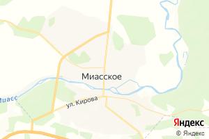 Карта с. Миасское Челябинская область