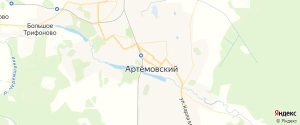 Карта Артемовского с районами, улицами и номерами домов